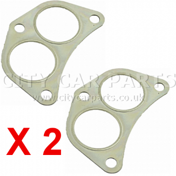 2 X SUBARU FORESTER IMPREZA LEGACY EXHAUST FRONT DOWN PIPE TWIN GASKET
